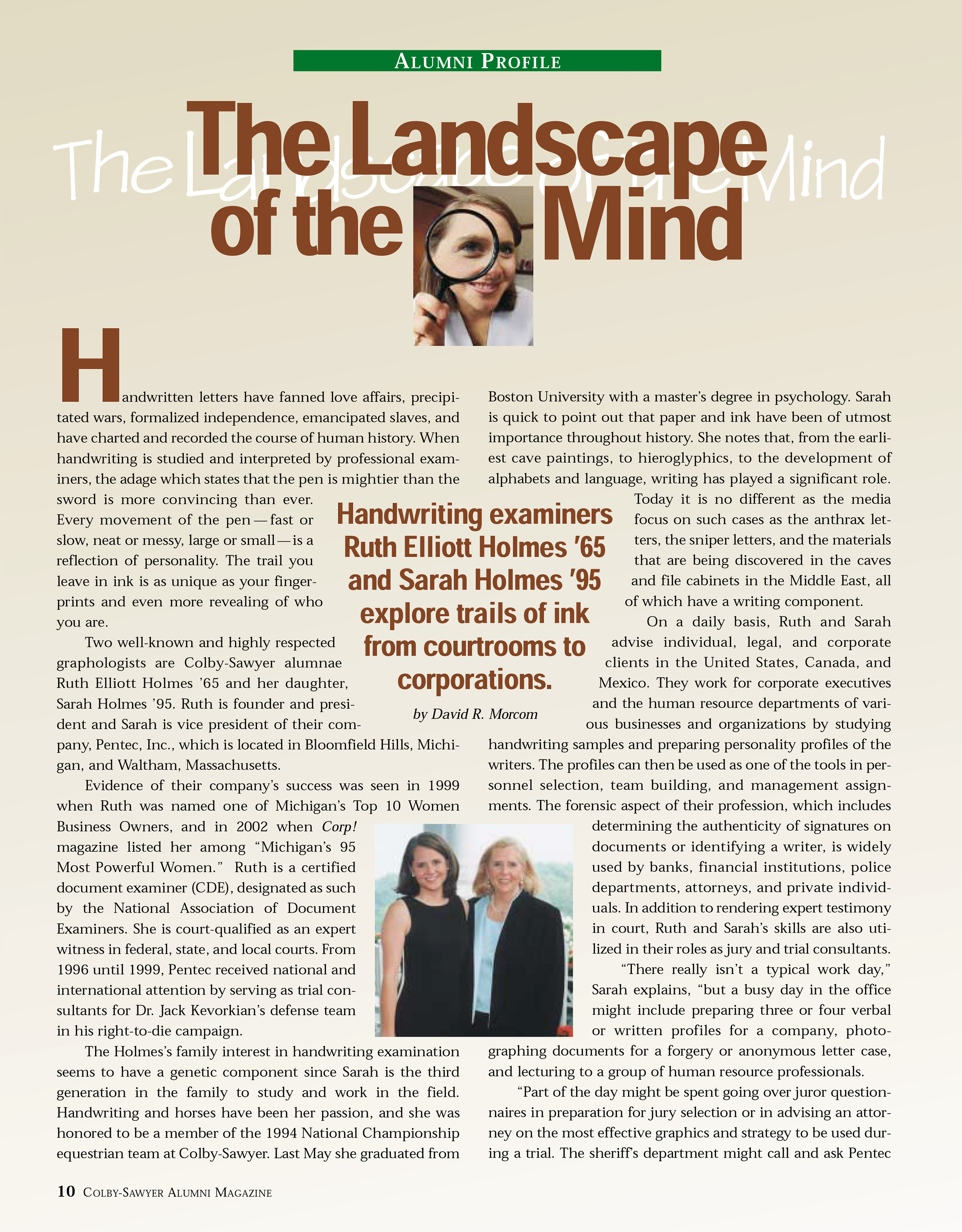 photo of article entitled landscape of the mind
