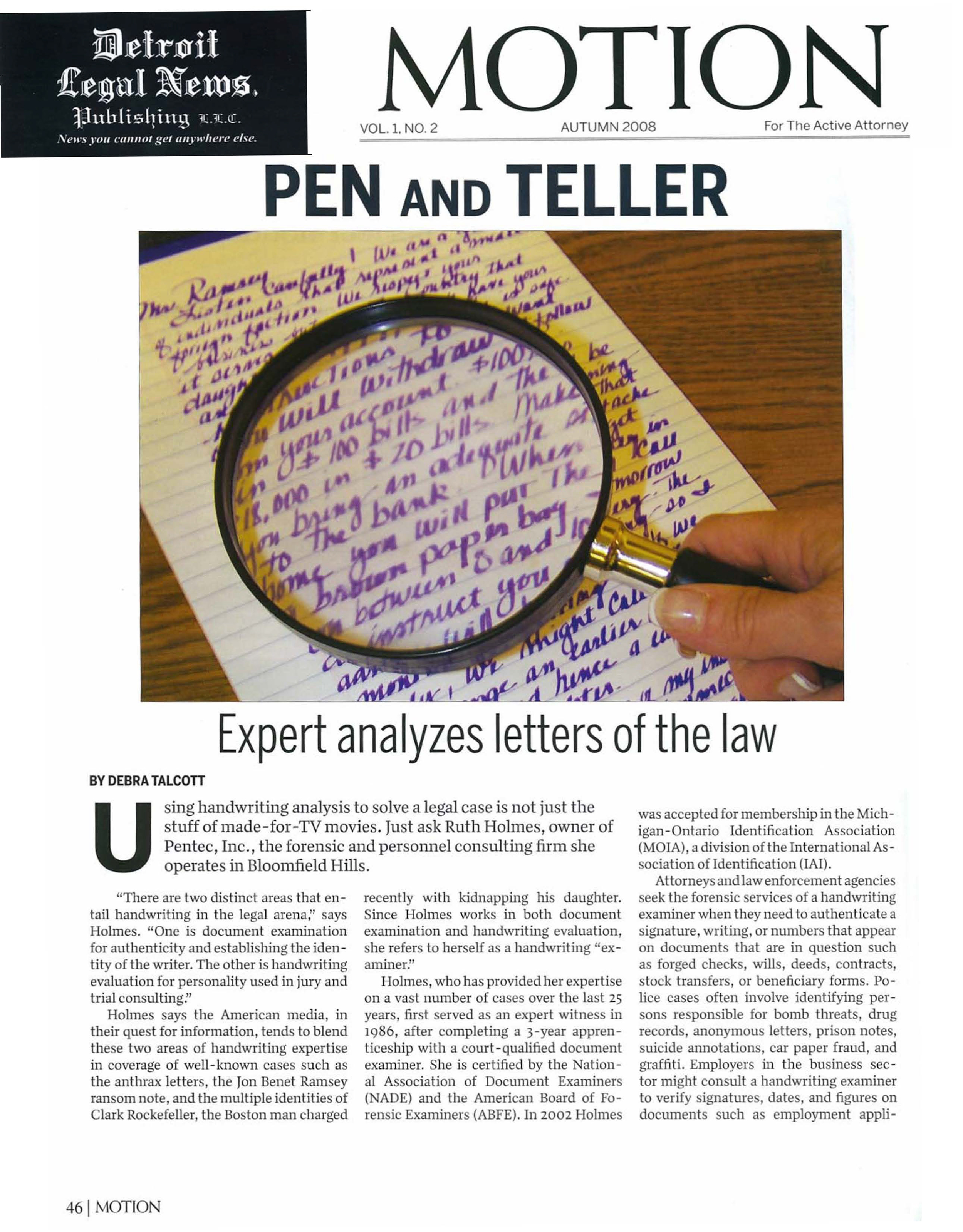 photo of article entitlted penn and teller: expert analyzes letter of the law