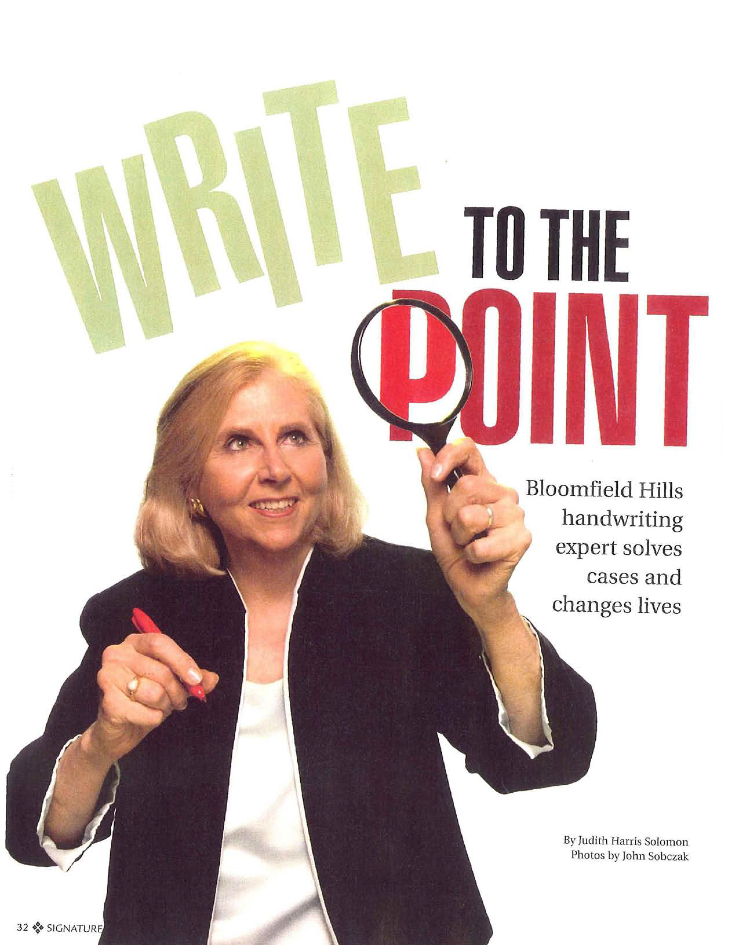 photo of article entitled write to the point